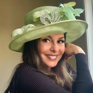Kentucky Derby Hat celery green